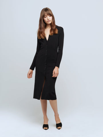 L'GENCE Adley L/s Sweater Dress in Black