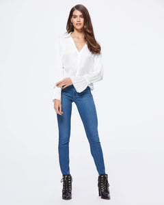 Paige Abriana Flared Cuff shirt 4099D92-1165 White or Black