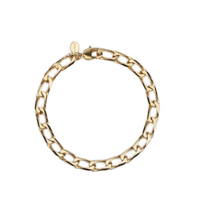Cuchara Roberta open link chain anklet in gold