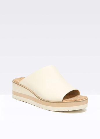 Vince Sarria Assymetrical Leather Slide Sandal