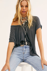 Free People Under the Sun Tee - Black or Denim Blue
