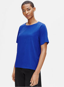 Eileen Fisher Crew Neck S/S Tee In Organic Cotton Jersey