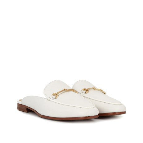 Sam Edelman Linnie White Calf Bit Mule Loafer