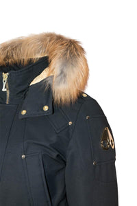 Moose Knuckles Men's Stag Lake Parka Navy w/Red Fox