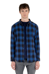 KUWALLA L/S Proper Plaid - Electric Blue