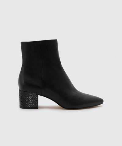 Dolce Vita Bel Leather Bootie in Black
