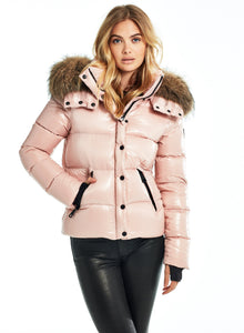 SAM Fur Annabelle Down Jacket w Removable Hood Blush