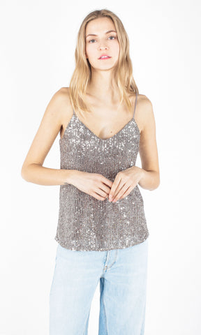 Generation Love Dash Sequin V-Neck Cami SU19210