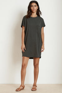 Velvet Annie03-S219 Cotton Slub T-shirt Dress