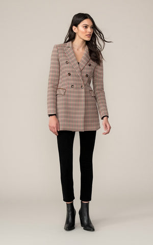 Soia&Kyo Fabriana-H Tailored Plaid Jacket in Honey