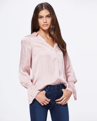 Paige Abriana Flared Cuff shirt 4099D92-1165 in Blush