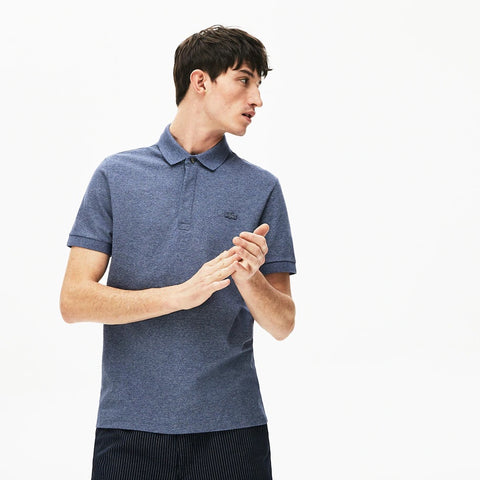 Lacoste Men's Regular Fit Stretch Cotton Paris Polo -  Indigo