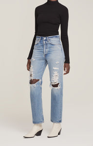 AGoldE 90's Mid Rise Loose Fit Jean in Major