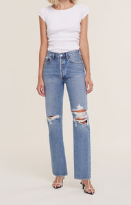 AGOLDE Lana Mid Rise Vintage Straight Jean in Backdrop