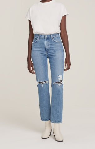 AGOLDE Wilder MidRise Straight Jean in Whiplash