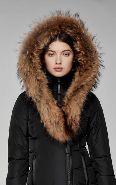 Mackage AdaliF8 fitted down coat with hood & fur trim