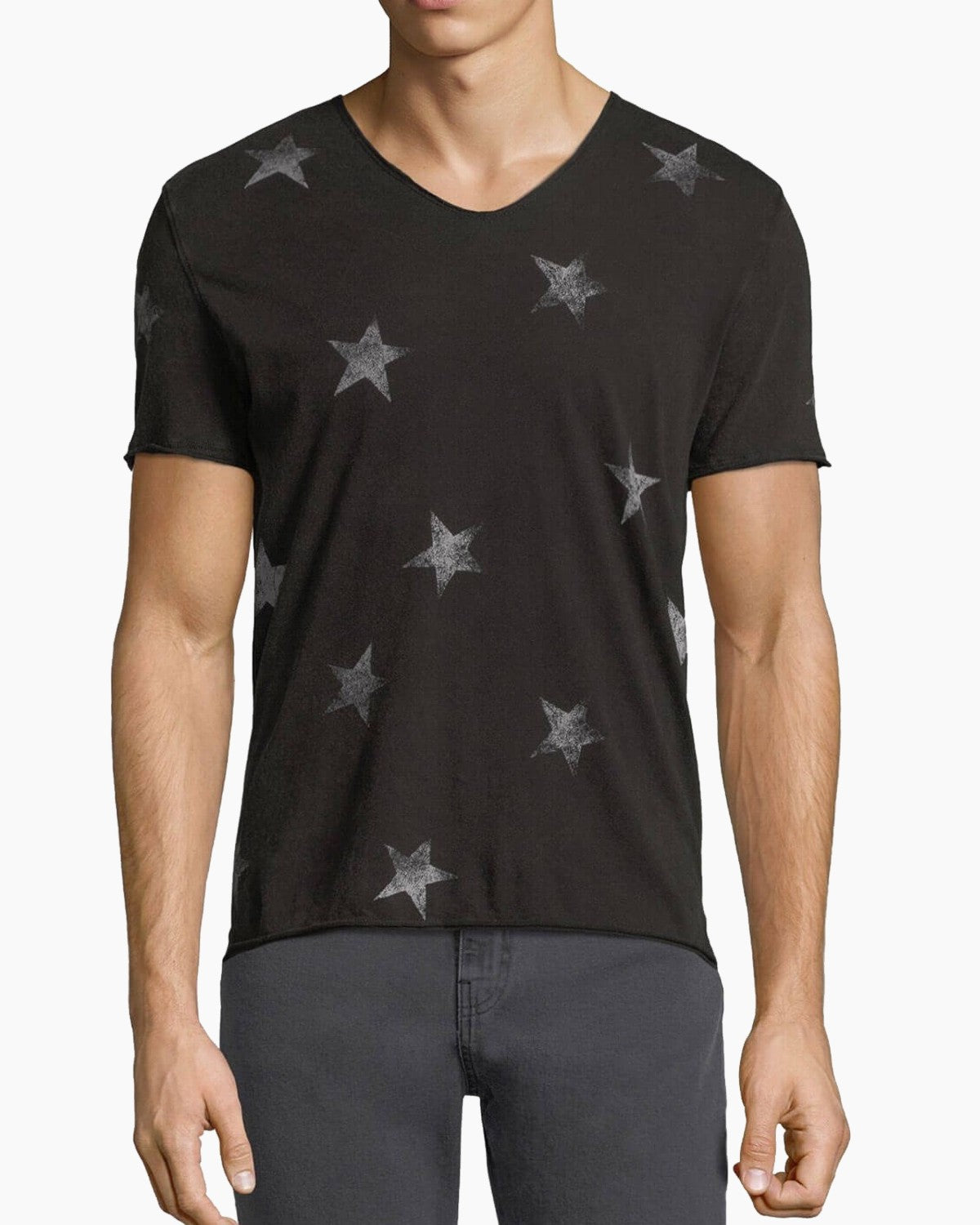 John Varvatos ALL OVER STARS GRAPHIC TEE