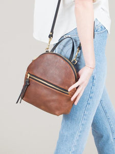 eleven thirty Anni Mini Shoulder Bag with zipper in bronze