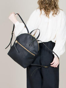 eleven thirty Anni Large Backpack with zipper in black