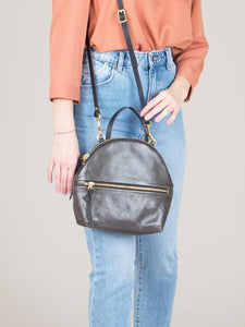 eleven thirty Anni Mini Shoulder Bag with zipper in steel