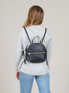 eleven thirty Anni Mini Back Pack with zipper in black