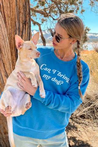 goodhYouman Smith Bring My Dog Long Sleeve Tee in Azure