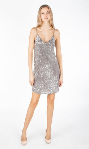Generation Love Astrid Sequin Dress Silver SU19617