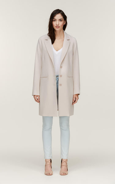Soia&Kyo Bartha Long Drapy Coat Pearl