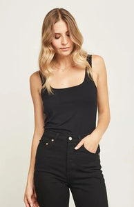 Gentle Fawn Belize Square Neck Tank in black