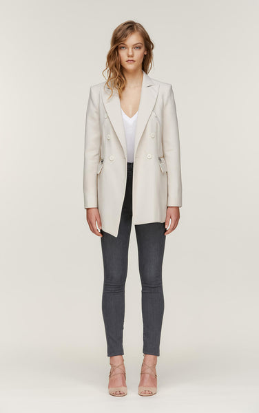 Soia&Kyo Caralina Tailored DB Jacket Pearl