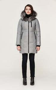 Soia&Kyo Christy-XN Brushed Down Coat with Fox Fur
