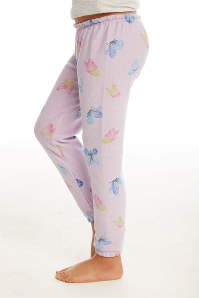 Chaser Girls Cozy Knit Lounge Pant in Posy