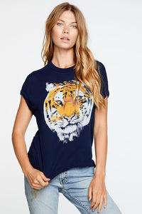 Chaser TIGER PORTRAIT CREW NECK TEE - Avalon
