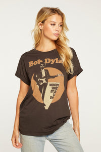 Chaser Recycled Jersey Bob Dylan S/S Tee in Union Black