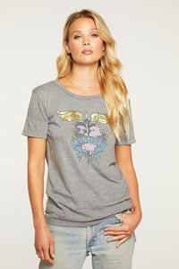 Chaser Triblend Bon Jovi Everybody Tee in Streaky Grey