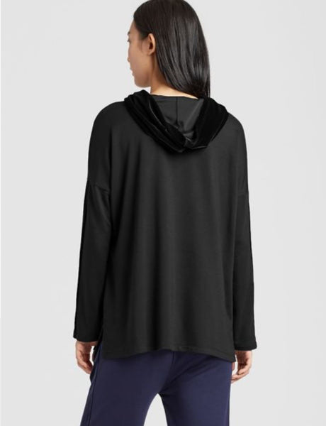 Eileen Fisher Hooded Box Top - Black