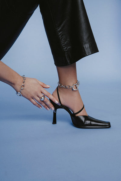Cuchara Etta Circle Link Chain Anklet in Gold