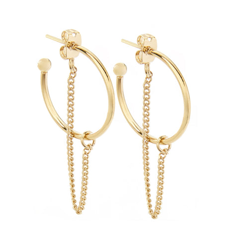 Cuchara Dawn earrings in gold