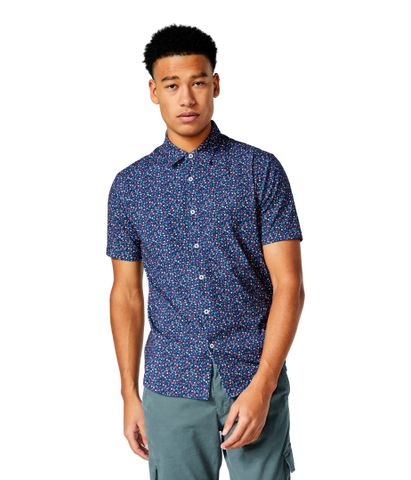 GoodMan Brand PRINTED SOFT SHIRT - Blue Meadow Daze