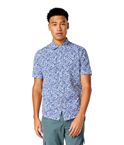 GoodMan Brand PRINTED SOFT SHIRT - White Leafy Jungle