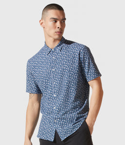 Good Man Brand Flex Pro Lite Jersey Printed S/S Soft Shirt - Lyon's Blue Daisy Pop