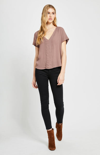 Gentle Fawn Easterly short sleeve v-neck top