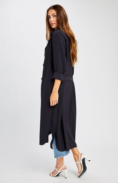 Gentle Fawn Strauss Long Trench in Navy
