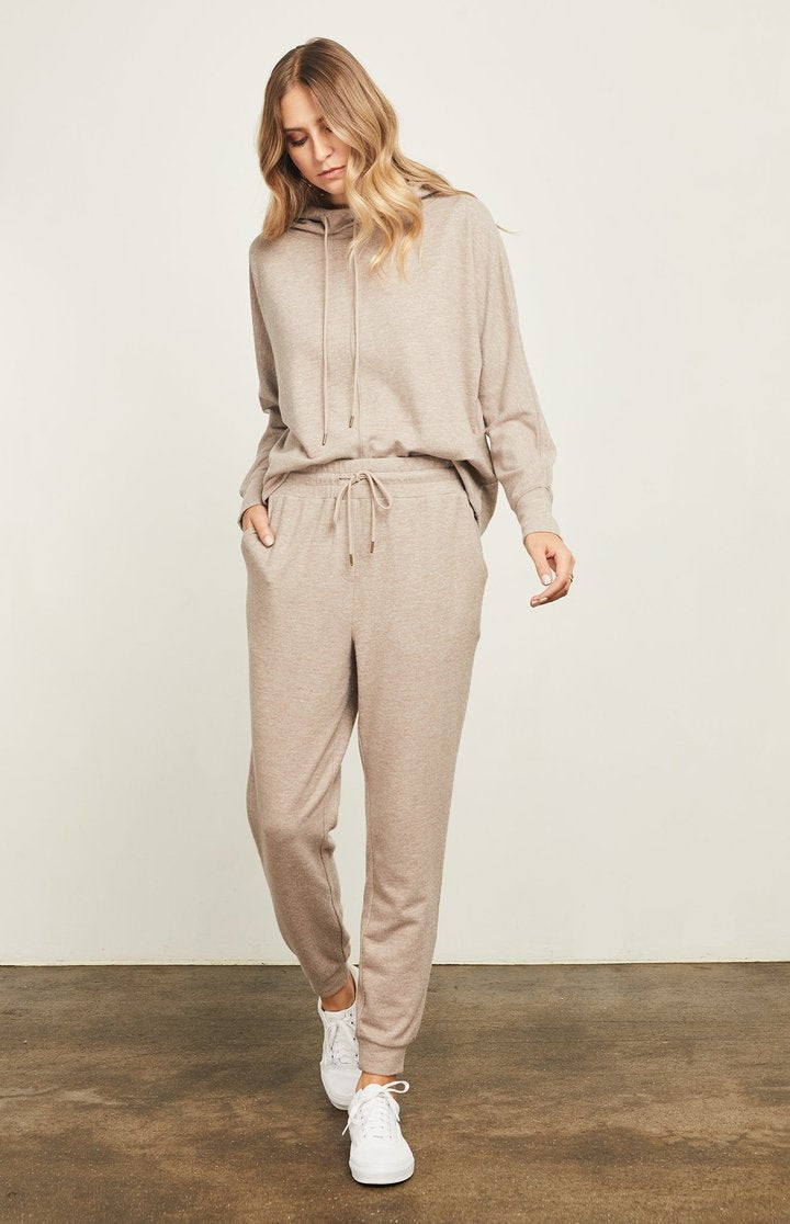 Gentle Fawn Lawrence Lounge Pant in Heather Brown
