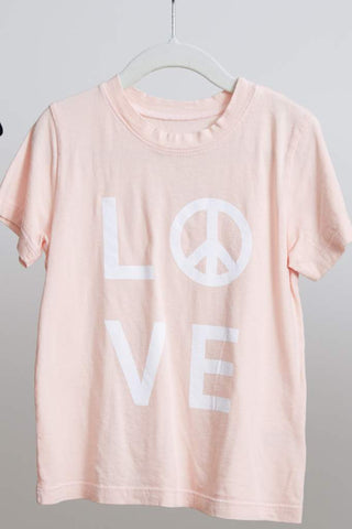 goodhYOUman Simba LOVE PEACE tee in cloud pink
