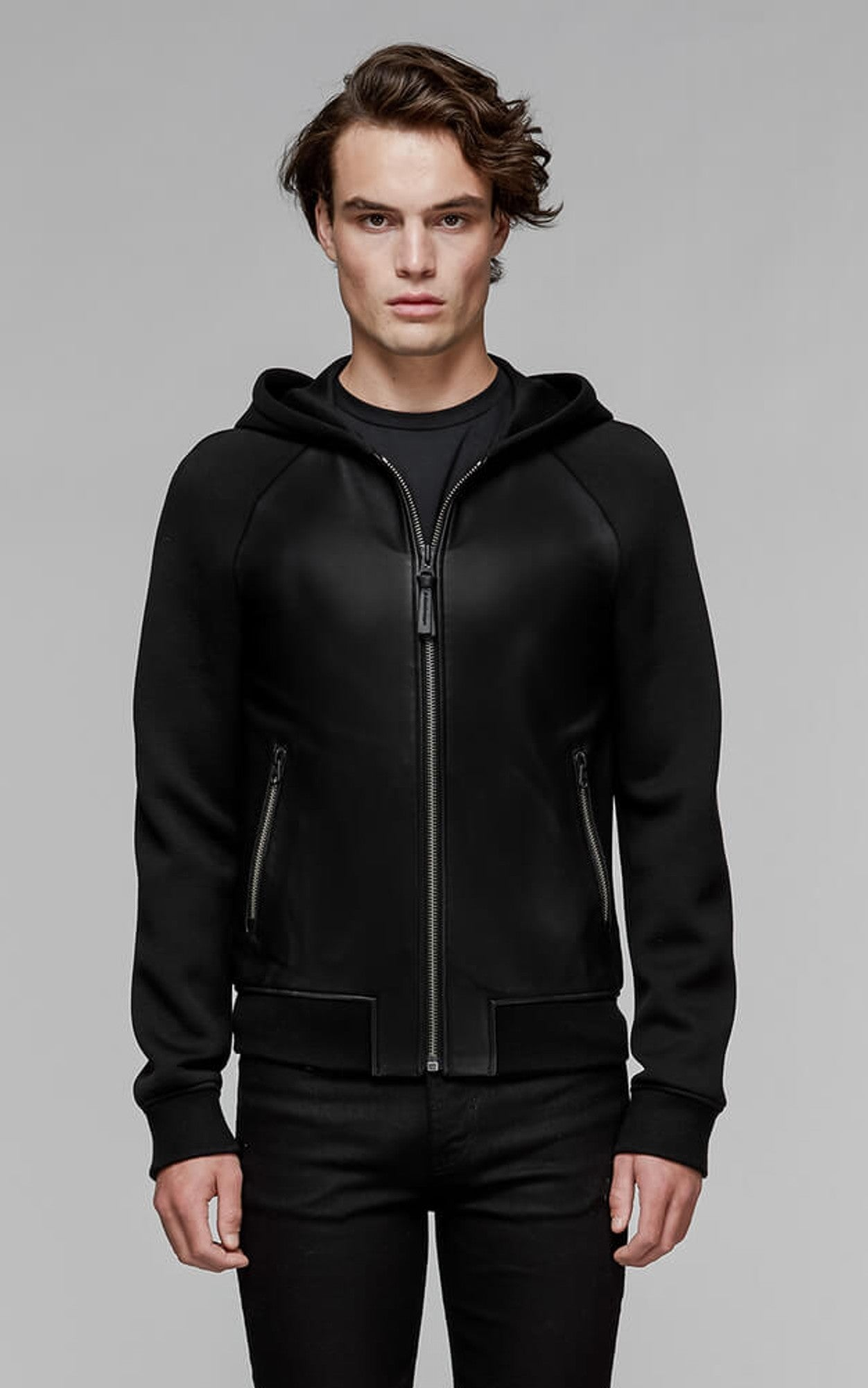 Mackage Gibb-M Leather Hooded Jacket
