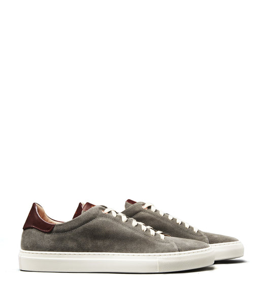 GoodMan Brand LEGEND-LO Top Suede Sneaker Grey/Vachetta