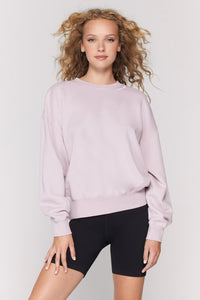 spiritual gangster stars hailey pullover in rose quartz