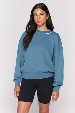 spiritual gangster follow hailey pullover in soft jade