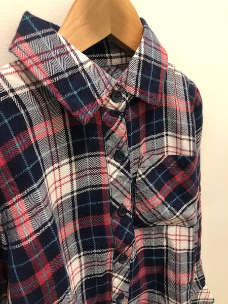 Rails Kids Plaid Shirt in Pink